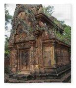 Famous Temple Banteay Srei Cambodia Asia  Fleece Blanket
