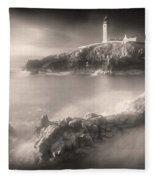 Fanad Lighthouse In The Mist Fleece Blanket by Susan Maxwell Schmidt