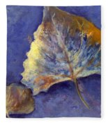Fanciful Leaves Fleece Blanket