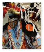 Pow Wow Fancy Dancer 1 Fleece Blanket