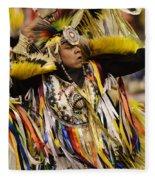 Pow Wow Fancy Dancer 2 Fleece Blanket
