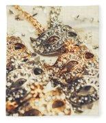 Fancy Dress Timepieces Fleece Blanket