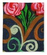 Fancy Flowers Fleece Blanket