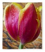 Fancy Tulip Fleece Blanket