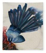 Fantail Flycatcher Fleece Blanket
