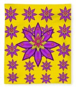 Fantasy Big Flowers In The Happy Jungle Of Love Fleece Blanket