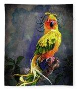 Fantasy Bird Fleece Blanket