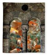 Fantasy Goldfish Aquarium Fleece Blanket