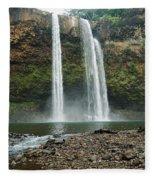 Fantasy Island Falls Fleece Blanket