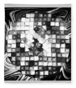 Fantasy Tiles Abstract Fleece Blanket
