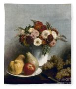Fantin-latour: Fruits, 1865 Fleece Blanket
