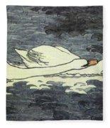 Farbiger Holzschnitt Zwei Schw Ne 1902 Fleece Blanket