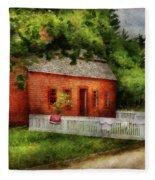 Farm - Barn - A Small Farm House  Fleece Blanket