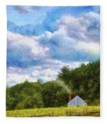 Farm - Barn - Home On The Range II  Fleece Blanket