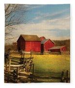 Farm - Barn - I Bought The Farm Fleece Blanket