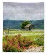 Farm - Barn - Out In The Country  Fleece Blanket
