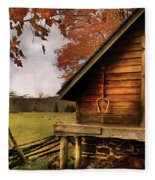 Farm - Barn - Shed Out Back Fleece Blanket