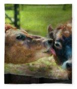 Farm - Cow - Let Mommy Clean That Fleece Blanket