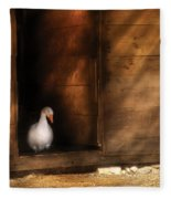 Farm - Duck - Welcome To My Home  Fleece Blanket