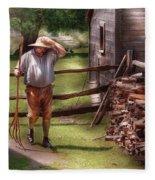 Farm - Farmer - Chores Fleece Blanket