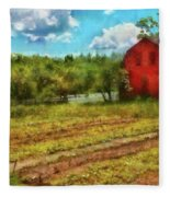Farm - Farmer - Farm Work  Fleece Blanket