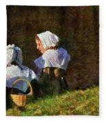 Farm - Farmer - The Young Maidens Fleece Blanket