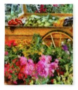 Farm - Food - At The Farmers Market Fleece Blanket