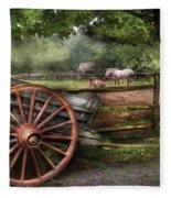 Farm - Horse - Grey Mare Fleece Blanket