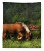 Farm - Horse - In The Meadow Fleece Blanket