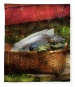 Farm - Laundry  Fleece Blanket