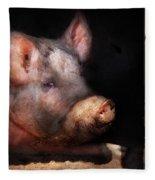 Farm - Pig - Piggy Number Two Fleece Blanket