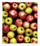 Farm Apples Fleece Blanket