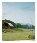 Farm Barn Listing Fleece Blanket