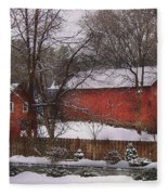 Farm - Barn - Winter In The Country  Fleece Blanket