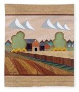 Farm By Ripon-marquetry Fleece Blanket