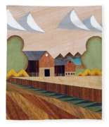 Farm By Ripon -marquetry-image Fleece Blanket