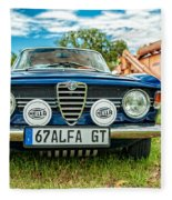 Farm Car - Alpha Gt Fleece Blanket