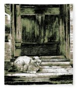 Farm Cat Fleece Blanket