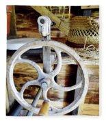Farm Equipment Corn Sheller Fleece Blanket