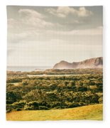 Farm Fields To Seaside Shores Fleece Blanket