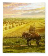 Farm - Finland - Field Of Hope 1899 Fleece Blanket