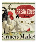 Farm Fresh Eggs-b Fleece Blanket