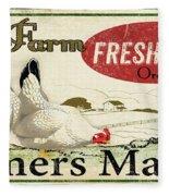 Farm Fresh Eggs-c Fleece Blanket