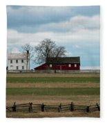 Farm House And Barn Fleece Blanket