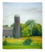 Farm In The Pine Barrens  Fleece Blanket