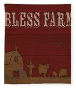 Farm Life-jp3220 Fleece Blanket