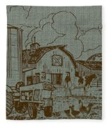 Farm Life-jp3236 Fleece Blanket