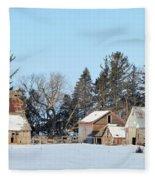 Farm On Echo Avenue Fleece Blanket