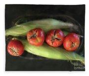 Farm Produce Fleece Blanket