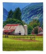 Farm, Randall, Wa Fleece Blanket